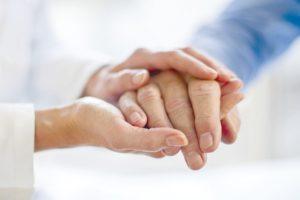 Image: Senior holding hands
